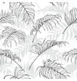 hand drawn palm leaves pattern vector image vector image