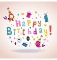 Happy Birthday card 5 vector image vector image