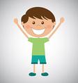happy kid vector image vector image