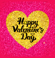 happy valentines day glitter design vector image vector image