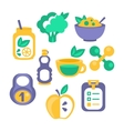 Healthy Lifestyle Objects Set vector image vector image