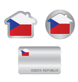 home icon on czech republic flag vector image