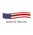 icon made in usa vector image vector image