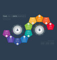 infographic consisting 10 parts divided into 2 vector image vector image