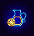 lemonade neon sign vector image