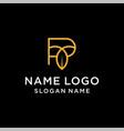 letter p leaf logo vector image vector image