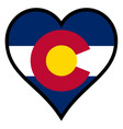 love colorado vector image vector image