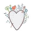 love frame spring cute vector image