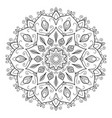 mandala design element vector image vector image
