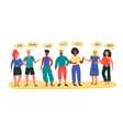multinational peoples welcome vector image vector image