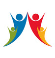 people together family icon vector image vector image