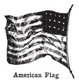 picture of old american flag on a flag pole vector image