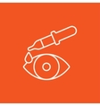 Pipette and eye line icon vector image vector image