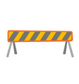 road barrier cartoon vector image