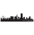 san francisco california skyline detailed silhouet