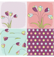 seamless patterns floral fabric vector image vector image