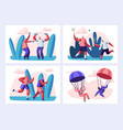senior people sport activity and healthy lifestyle vector image vector image