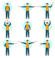 set of of a special worker in vector image vector image