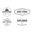 Set of outdoor explorer family camp badge logo vector image vector image