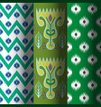 set of seamless patterns in ethnic national vector image