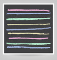 set of stripes drawn in chalk vector image