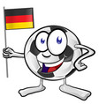 soccer ball cartoon with germany flag vector image vector image