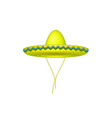 sombrero hat in yellow design vector image vector image