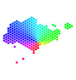spectrum hexagon singapore map vector image vector image