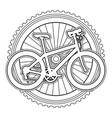 sport bicycle with wheel vector image vector image