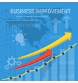square background BUSINESS IMPROVEMENT vector image vector image