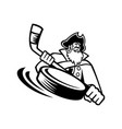swashbuckler or pirate with ice hockey stick and vector image vector image