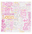 The Best Rapid Weight Loss Techniques text vector image vector image