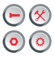 Tool icon set Screwdriver cogwheel pliers vector image