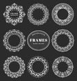 Unique hand drawn decorative frames vector image vector image