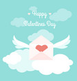 valentines day card love letter envelope heart vector image