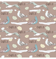 Vintage Seagull Pattern Background vector image