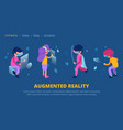 vr concept augmented reality technology web page vector image