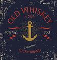 Whiskey Label Design T-shirt Print vector image vector image