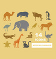 wild animals of africa vector image vector image