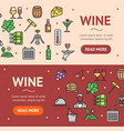 wine drink banner horizontal set vector image vector image