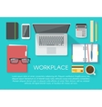 Workspace Flat Poster vector image vector image