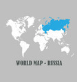 world map all countries white color vector image vector image
