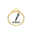 writer symbol pen logo design vector image vector image