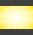 yellow abstract background with sun light burst vector image
