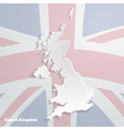 Abstract icon map of United Kingdom vector image