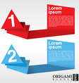 Abstract origami banners with number EPS10 vector image