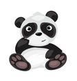 Cartoon Panda sitting isolated animal vector image