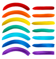 Set of watercolor rainbow stripes on white vector image