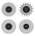 set of four black frame isolated on white vector image