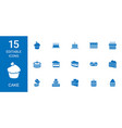 15 cake icons vector image vector image
